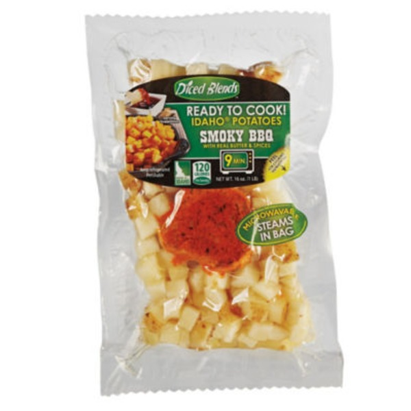 Diced Blends Smoky Barbecue Diced Idaho Potatoes