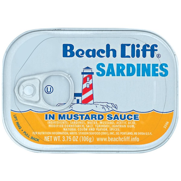 Beach Cliff In Mustard Sauce Sardines