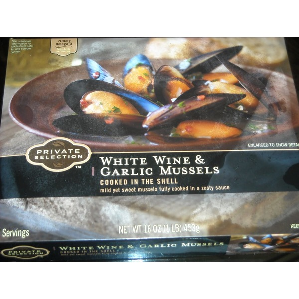 Kroger Private Selection White Wine And Garlic Mussels