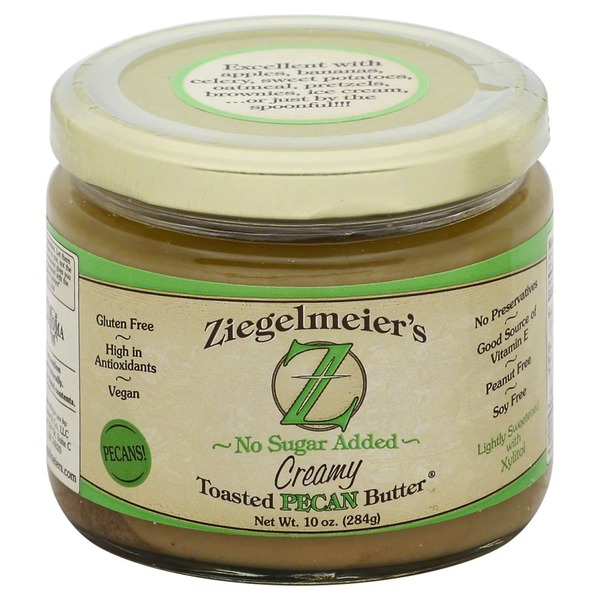 Ziegelmeier's Pecan Butter, Creamy, No Sugar Added, Jar