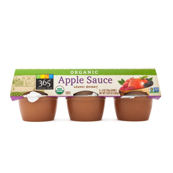 365 Organic Mixed Berry Apple Sauce