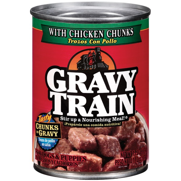 Gravy Train Chunks in Gravy with Chicken Chunks Wet Dog Food
