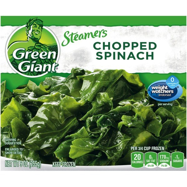 Green Giant Chopped Spinach Steamers