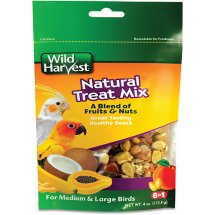 Wild Harvest Natural Treat Mix for Medium and Large Birds, 4 oz