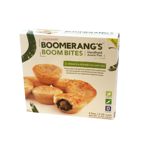 Boomerang's Spinach And Mushroom Boom Bites