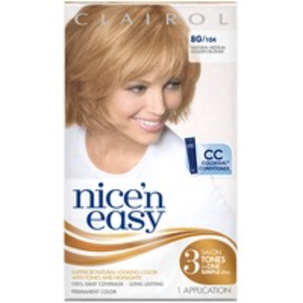 Clairol Nice 'n Easy, 8G/104 Natural Medium Golden Blonde, Permanent Hair Color, 1 Kit Female Hair Color