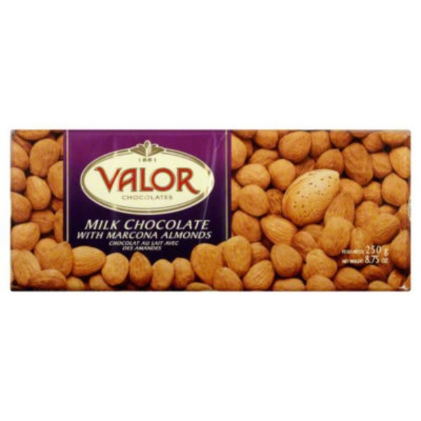 Valor Milk Chocolate, with Almonds