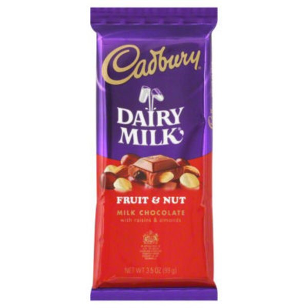 Cadbury Dairy Milk Fruit & Nut Milk Chocolate Candy Bar