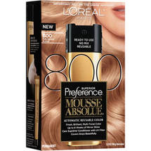 L'Oreal Paris Superior Preference Mousse Absolue Hair Color 800 Pure Medium Blonde