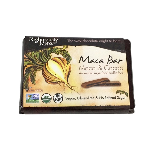 Righteously Raw Maca Bar, Maca & Cacao