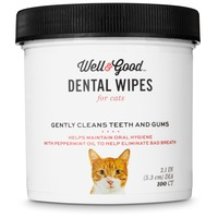 Well & Good Cat Dental Wipes Pack Of 100 Wipes