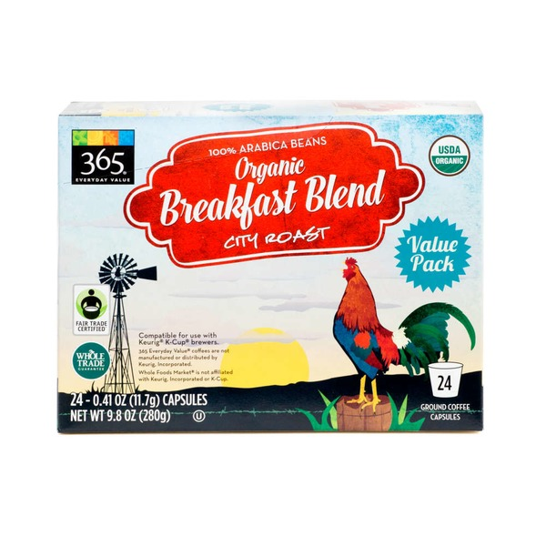 365 Organic Breakfast Blend Coffee Capsules