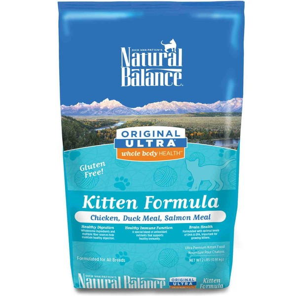 Natural Balance Original Ultra Whole Body Health Chicken Duck Meal & Salmon Meal Kitten Food 2 Lb