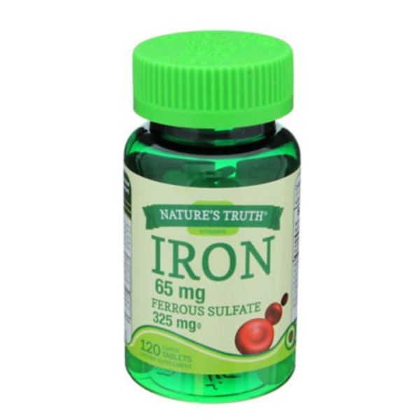 Nature's Truth Organic Iron 65 Mg Ferrous Sulfate 325mg Tablets