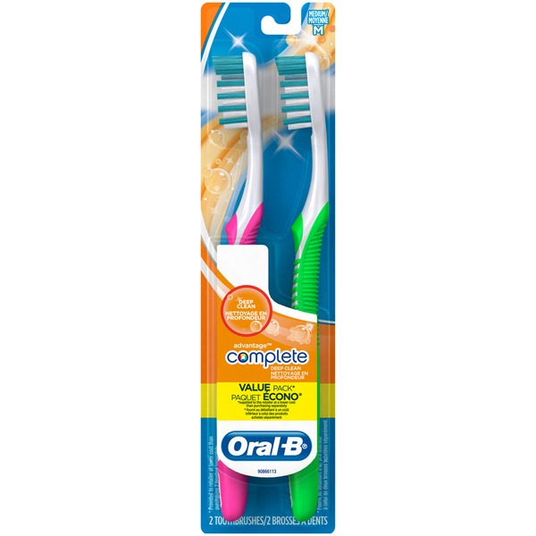 Oral-B Advantage Oral-B Advantage Plus Toothbrush, 2 ct MED Manual Oral Care
