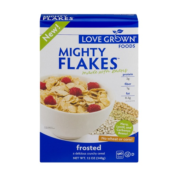 Love Grown Foods Mighty Flakes Frosted Cereal