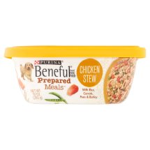 Purina Beneful Prepared Meals Chicken Stew With Rice, Carrots, Peas & Barley Wet Dog Food, 10 Oz