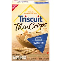Nabisco Triscuit Baked Whole Grain Wheat Original Crackers Thin Crisps