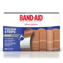 BAND-AID® Brand TOUGH-STRIPS® Adhesive Bandages, Durable Protection for Minor Cuts and Scrapes, 60 Count