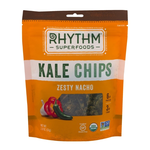 Rhythm Superfoods Zesty Nacho Kale Chips