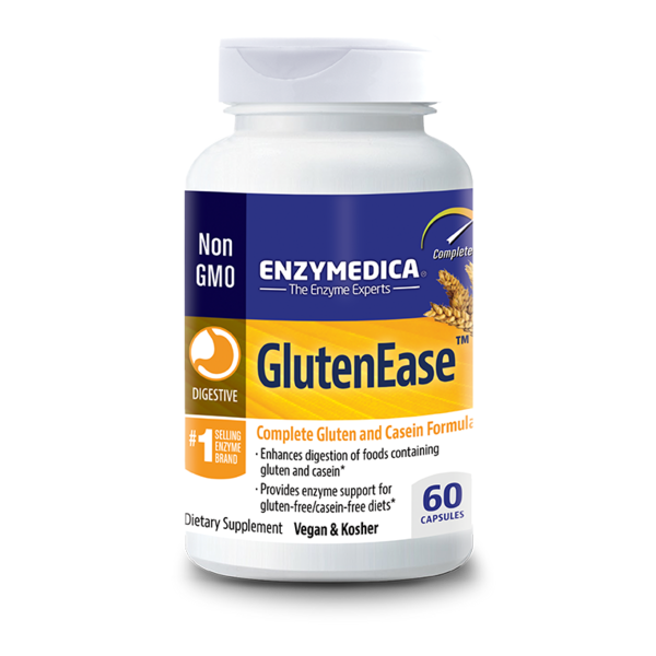 Enzymedica Dietary Supplement, GlutenEase, Capsules, Bottle