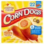 Foster Farms Honey Crunchy Flavor Corn Dogs, 22 count, 58.74 oz