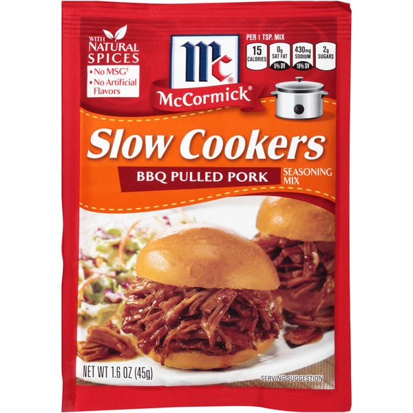 McCormick Slow Cookers BBQ Pulled Pork Seasoning Mix