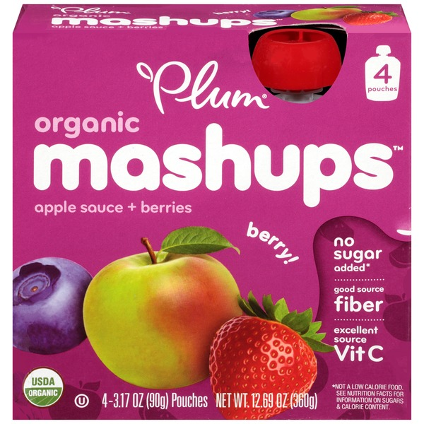 Plum Organics Mashups Berry Apple Sauce