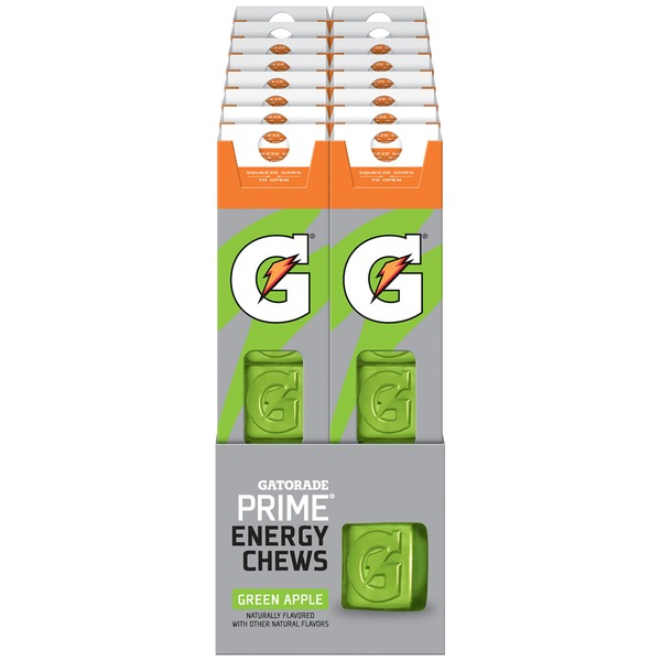 Gatorade G Series Prime Green Apple Energy Chews