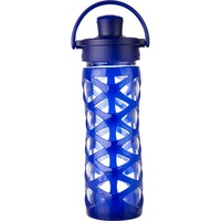 Lifefactory Active Cap Glass Bottle, Sapphire 16 oz