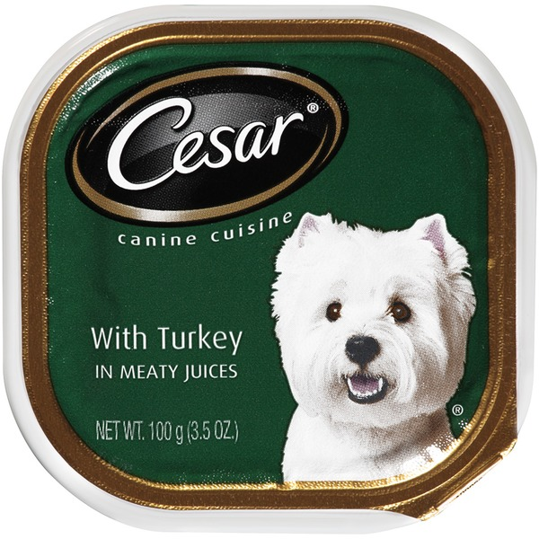 Cesar With Turkey in Meaty Juices Wet Dog Food