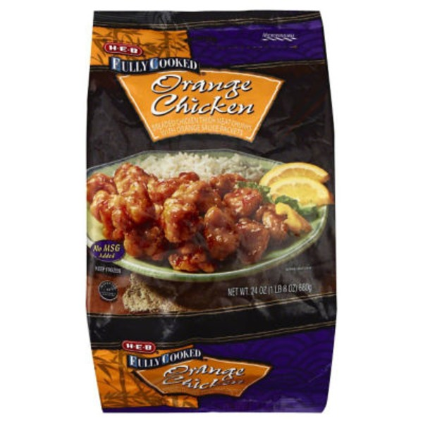 H-E-B Fully Cooked Orange Chicken