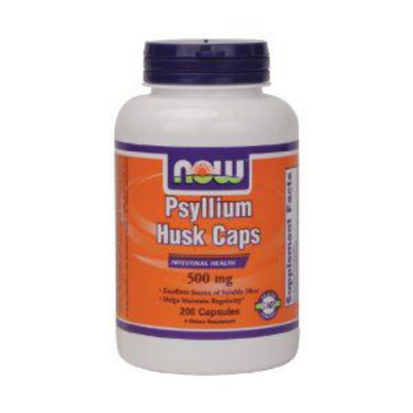 Now Psyllium Husk 500 Mg Capsules