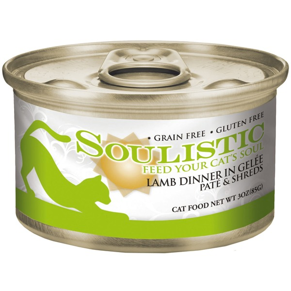 Soulistic Lamb Dinner In Gelee Pate & Shreds Adult Canned Cat Food