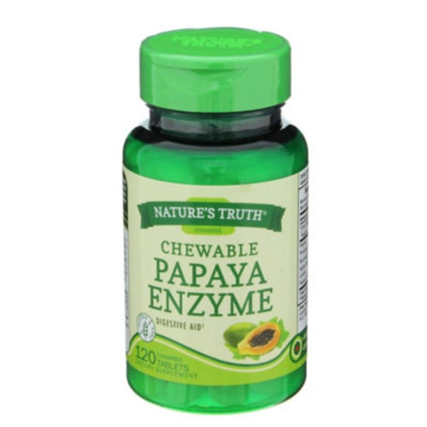 Nature's Truth Organic Chewable Papaya Enzyme Tablets