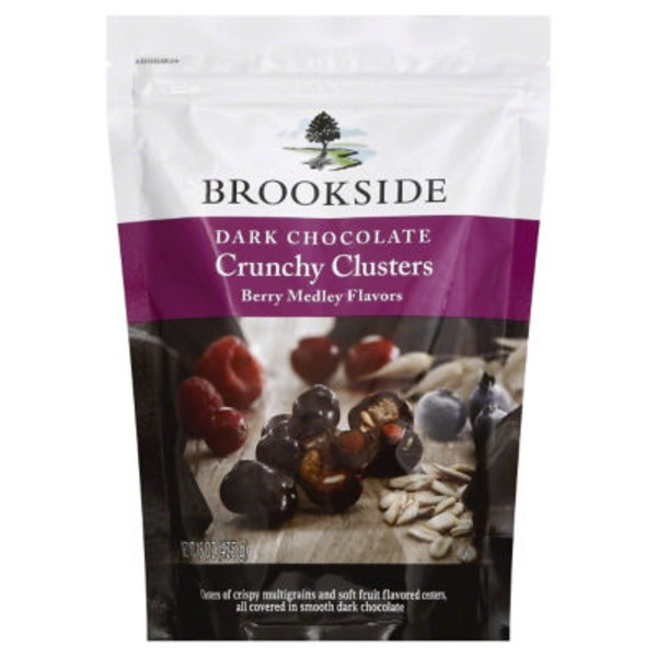 Brookside Berry Medley Flavors in Dark Chocolate Crunchy Clusters