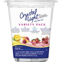 Crystal Light On the Go Lemonade/Cherry Pomegranate/Raspberry Lemonade/Wild Strawberry with Caffeine Variety Pack Drink Mix