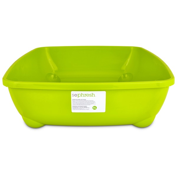 So Phresh Lime Green X Large Open Litter Box