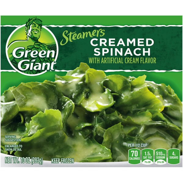 Green Giant Creamed Spinach Steamers