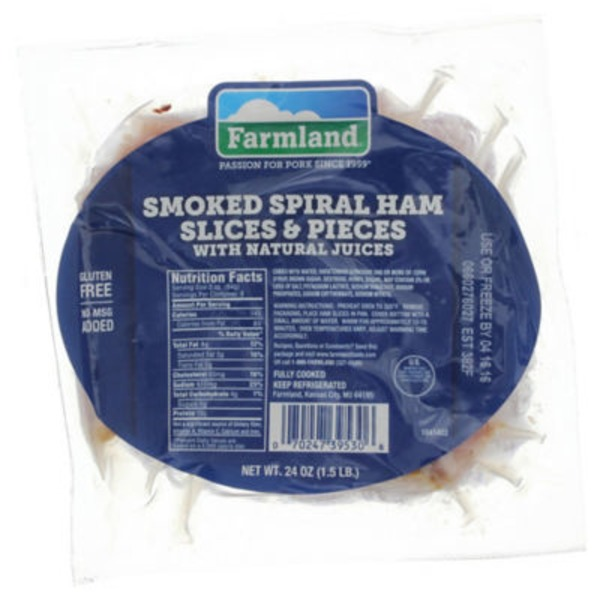Farmland Smoked Spiral Ham Slices & Pieces