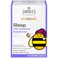 Zarbee's Naturals Children's Sleep with Melatonin Chewable Tablets, Natural Grape Flavor Dietary Supplement