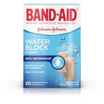 BAND-AID® Brand WATER BLOCK PLUS® Adhesive Bandages, Waterproof in Assorted Sizes, 30 Count