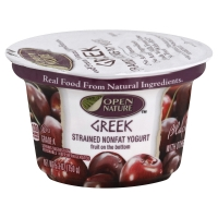Open Nature Greek Yogurt 0% Milk Fat Black Cherry