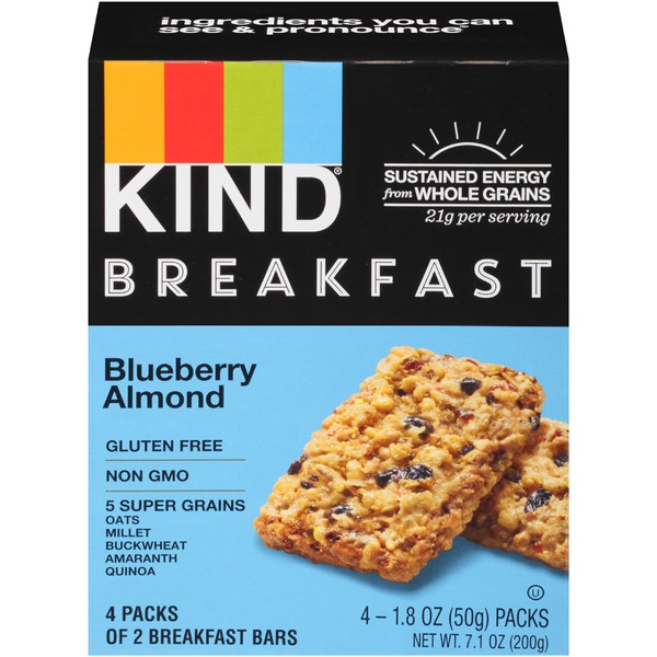 Kind Snacks Blueberry Almond Breakfast Bars