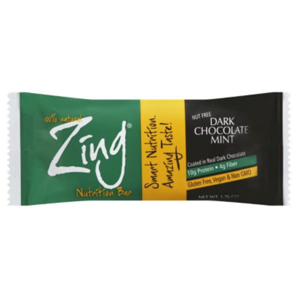Zing Dark Chocolate Mint Nutrition Bar