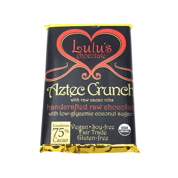 Lulu's Chocolate Organic Aztec Crunch Bar