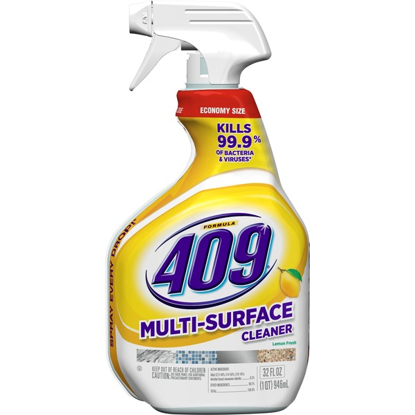 Formula 409 Multi-Surface Cleaner, Spray Bottle, Lemon, 32 Ounces