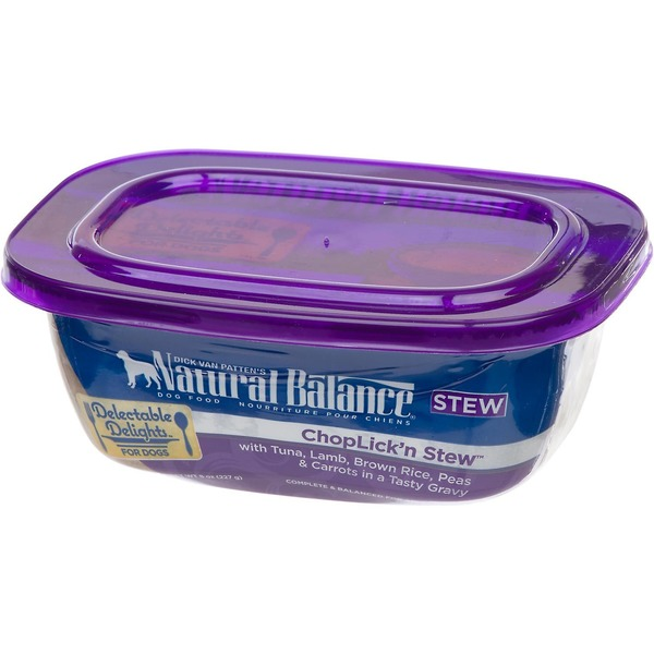 Natural Balance Delectable Delights ChopLick'n Stew Dog Food