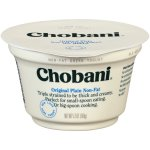 Chobani Greek Yogurt Plain Non-Fat Yogurt, 5.3 oz