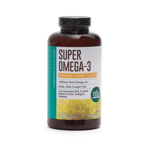 Whole Foods Market Lemon Flavor Super Omega-3